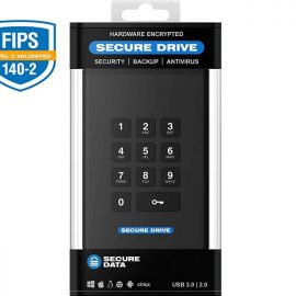 SecureData 500GB SecureDrive KP FIPS 140-2 SSD with Brute Force Protection