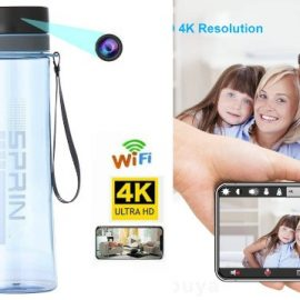 4K Hidden Spy Camera Water Bottle