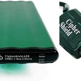 CipherShield USB 3.1 256-bit Encrypted SSD