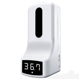 K9 Touchless Thermometer & Hand Sanitizer Station