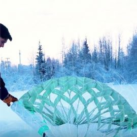 Deployable Origami Emergency Shelter for Harsh Conditions