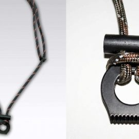 Adjustable Fire Starter Paracord Necklace
